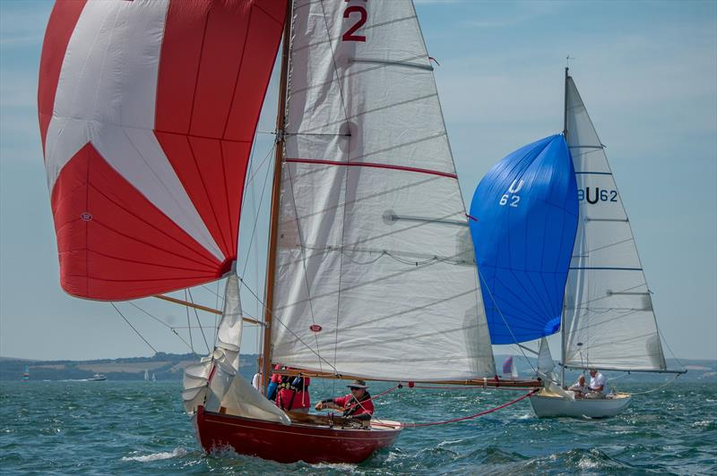Restored 1922 Seaview Mermaid Cynthia competing again on day 4 of Cowes Classics Week photo copyright Tim Jeffreys Photography taken at Royal London Yacht Club and featuring the Seaview Mermaid class