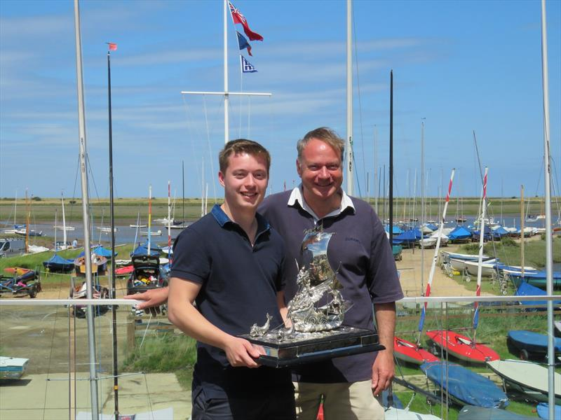William and Chris Gibbs win the British Sharpie Championship at Brancaster Staithe SC photo copyright James Case taken at Brancaster Staithe Sailing Club and featuring the Sharpie class