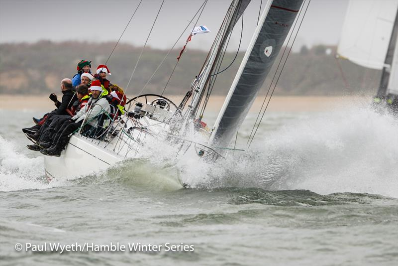 With Alacrity on week 8 of HYS Hamble Winter Series - photo © Paul Wyeth / www.pwpictures.com