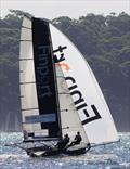 Finport Finance was fast under spinnaker throughout race 15 of the 18ft Skiff Club Championship