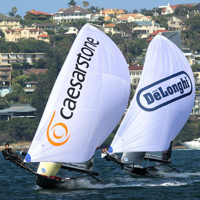 The Kitchen Maker and De'Longhi spinnaker action in a noréast wind earlier in the season - photo © Frank Quealey