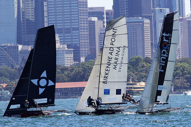 Light winds on Sydney Harbour on day 4 of the 18ft Skiff Australian Championship - photo © Frank Quealey