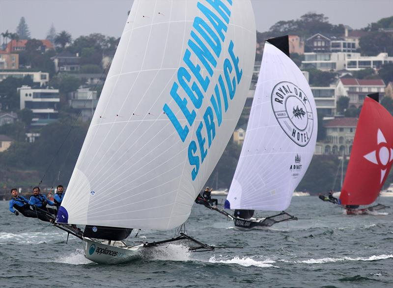 Appliancesonline.com.au takes second place behind Smeg in race 4 of the 18ft Skiff Spring Championship on Sydney Harbour - photo © Frank Quealey