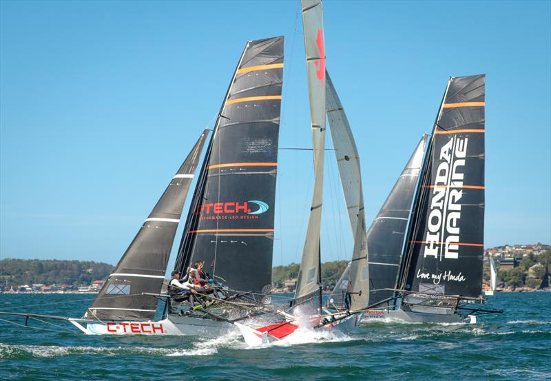 Races 6 & 7 on day 4 the 2020 18ft Skiff JJ Giltinan Championship - photo © Michael Chittenden