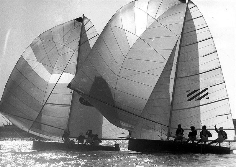 TraveLodge defeated Willie B in a 1969 Sail-off for the Giltinan Championship on the Brisbane River - photo © Archive