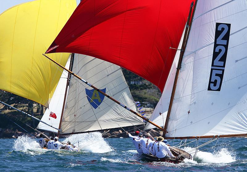 Alruth leads The Mistake in an Historical 18s race on Sydney Harbour - photo © Frank Quealey