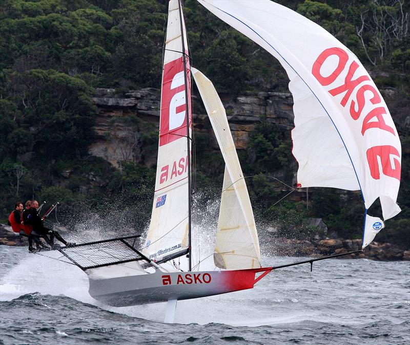 Marcus Ashley-Jones drives Asko Appliances in a southerly wind at the JJs - photo © Frank Quealey