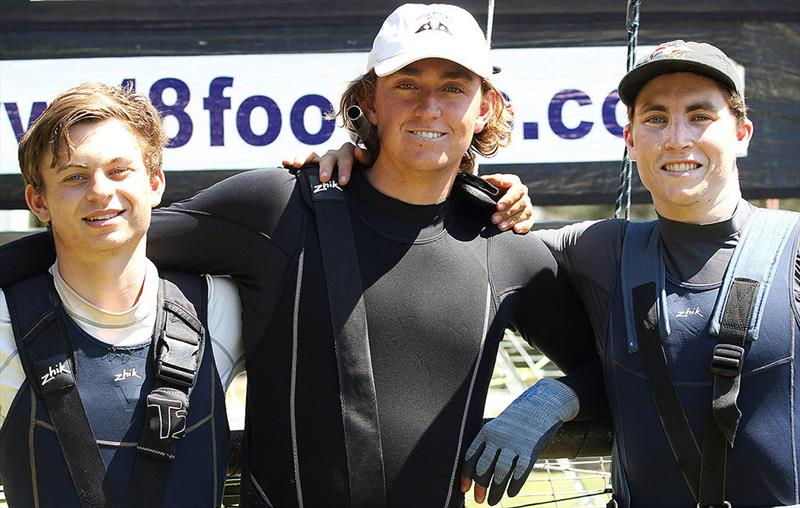 18ft Skiff Spring Championship: The rookie Vintec team members (l-r) Alex Marinelli, Flynn Twomey & Tom Cunich - photo © Frank Quealey