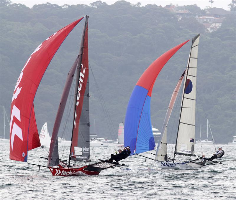 tech2 winner, Yandoo second placed in Race 1 of the 18ft Skiff NSW Championship - photo © Frank Quealey