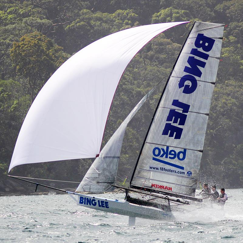 Bing Lee is one of the strongest challengers for the title - 2018-2019 NSW 18ft Skiff Championship - photo © Frank Quealey