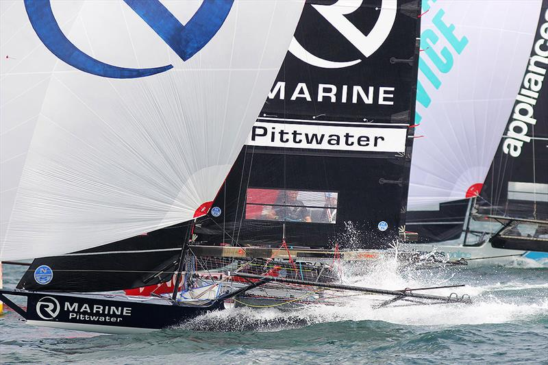 R Marine Pittwater and Appliancesonline provide close spinnaker racing - 2019 Club Championship - photo © Frank Quealey