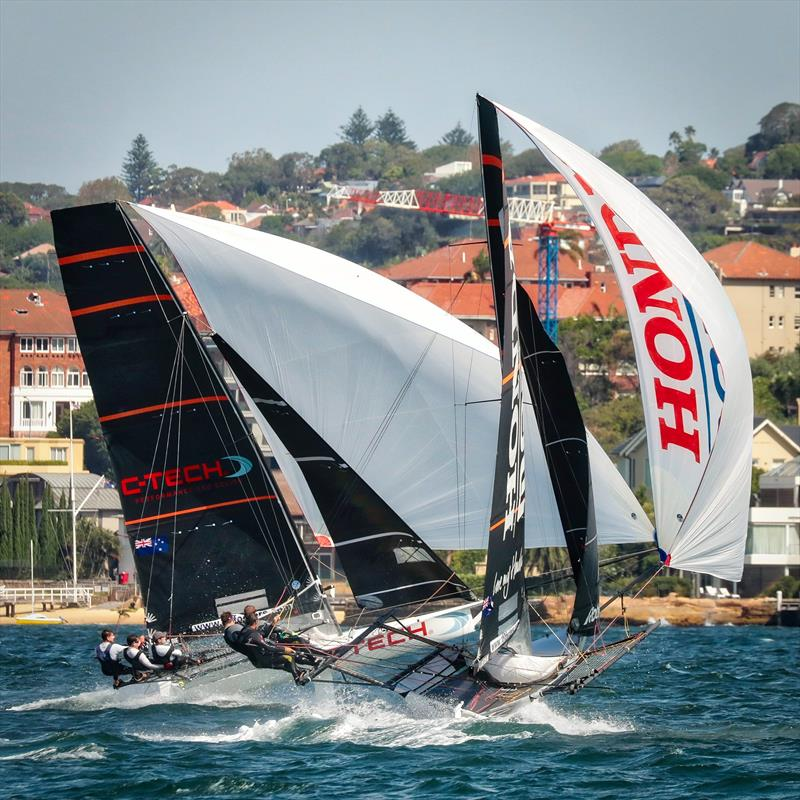 C-Tech and Honda Marine battle for the lead in Race 3 - JJ Giltinan Championship - Sydney Harbour - March 2019 - photo © Michael Chittenden
