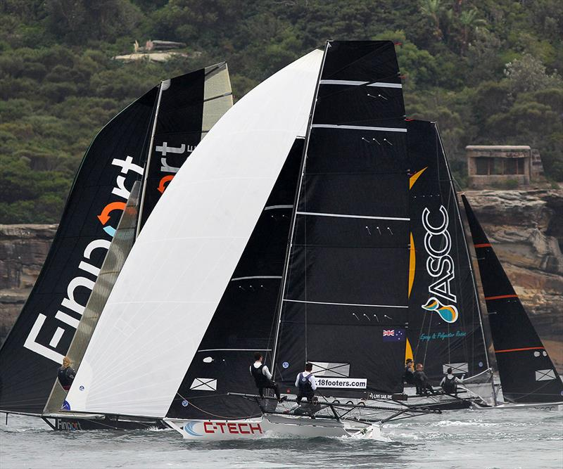 C-Tec and Finport Finance head for the Obelisk mark as ASCC heads off towards the next mark - 2019 JJ Giltinan Championship - photo © Frank Quealey