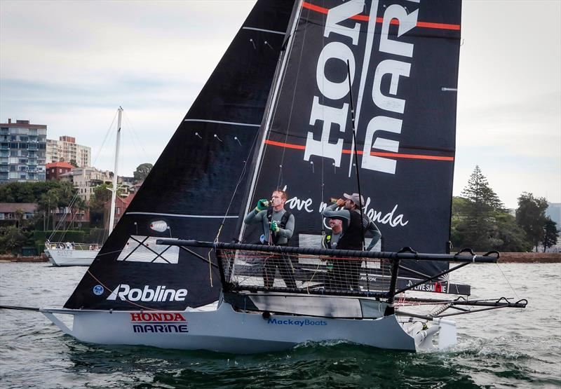 Beer o'clock for Honda Marine - the winner of Race 9 and the overall JJ Giltinan Championship - March 2019, Sydney Harbour - photo © Michael Chittenden