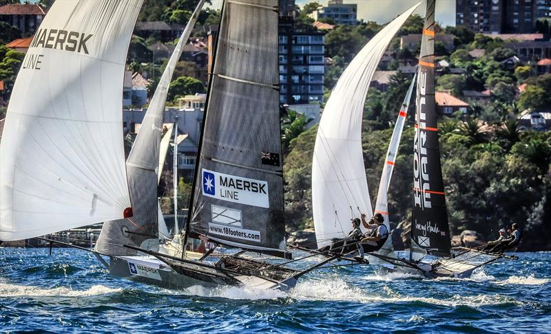 Maersk (Josh Porebski) came within 2pts of winning in his rookie year 2018 JJ Giltinan - 18ft skiffs, Sydney - photo © Michael Chittenden
