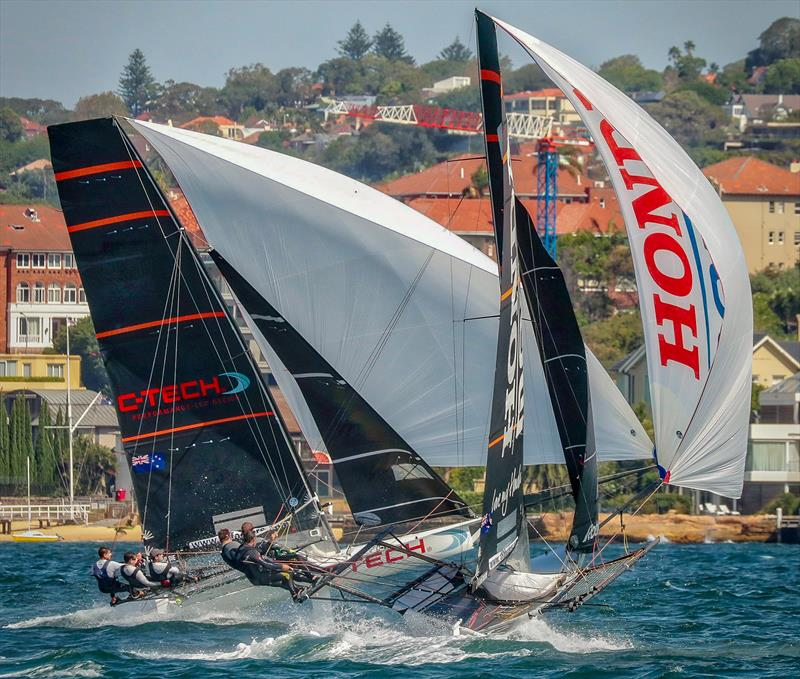 C-Tech leads Honda Marine in the heavy air Race 3 2019 JJ Giltinan Championship - March 2019 - photo © Michael Chittenden