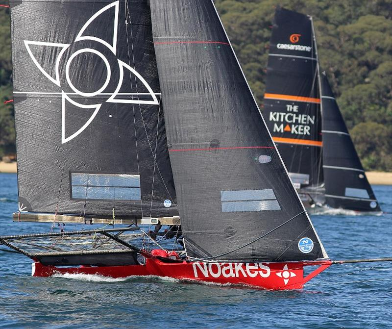 The Kitchen Maker-Caesarstone leads Noakesailing on the final windward lap of the course - photo © Frank Quealey