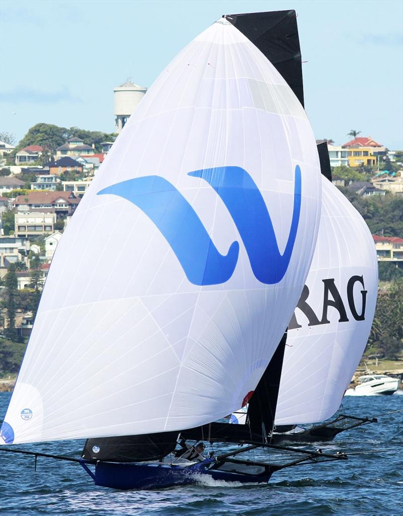 Winning Group leads Rag and Famish Hotel to the bottom mark - photo © Frank Quealey