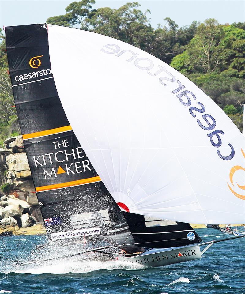The Kitchen Maker-Caesarstone team on the way to victory in a North East wind on Sydney Harboury - photo © Frank Quealey