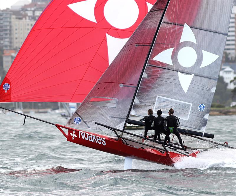 Noakesailing at speed down the centre of Sydney Harbour in a Nor'Easter - photo © Frank Quealey