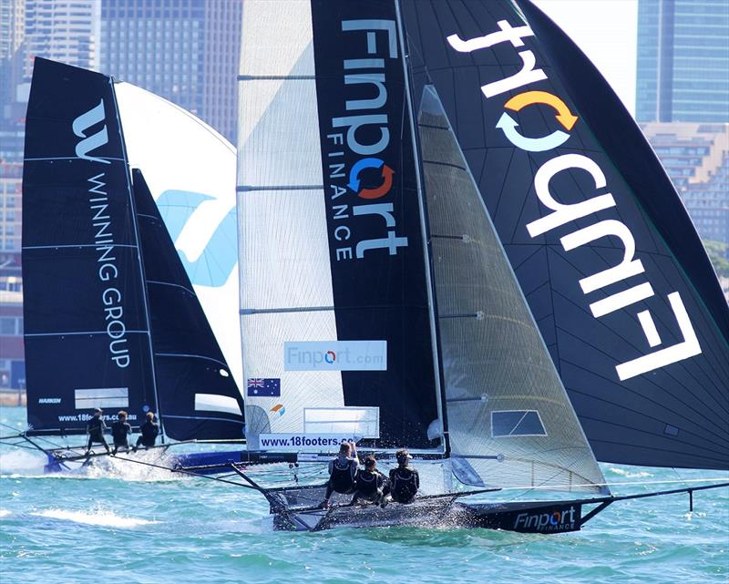 Only a few secs separated Winning Group and Finport Finance on a spinnaker run in an earlier NSW Championship race - photo © Frank Quealey