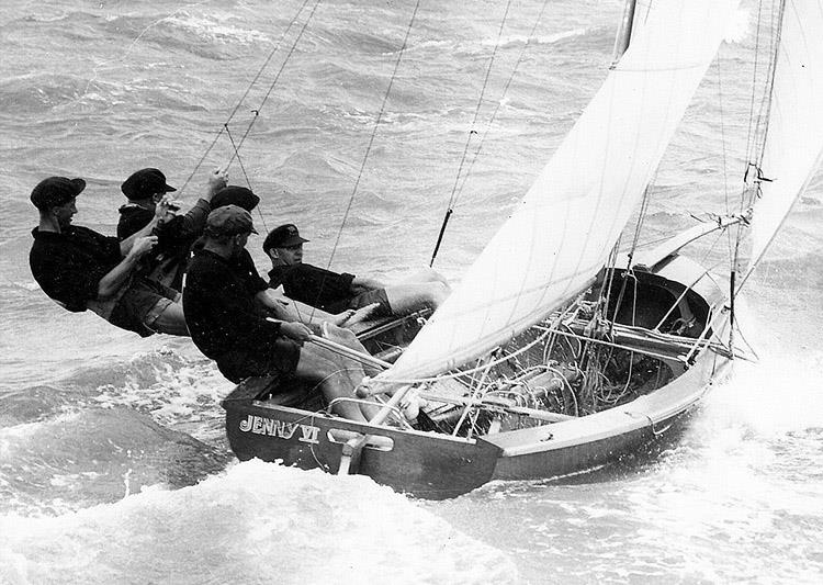 1956 JJ Giltinan world champion Jenny VI, skippered by Norman Wright Jr. - Queensland's golden days - photo © Frank Quealey