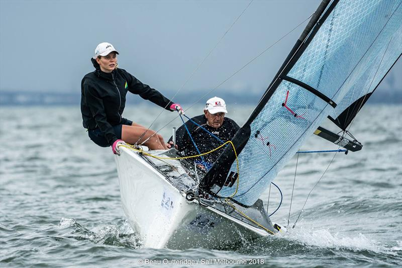 Matt Speakman and Emma Baillie 3rd in SKUD 18 - 2018 Australian Para Sailing Championships - photo © Beau Outteridge