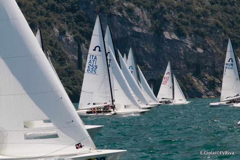 Soling European Championship 2017 photo copyright Elena Giolai / Fraglia Vela Riva taken at Fraglia Vela Riva and featuring the Soling class