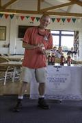 Happy winner overall Reger Bennet who also won one of the Chichester Harbour Gin spot prizes during the Mengeham Rythe Solo Open © Graeme Macdonald
