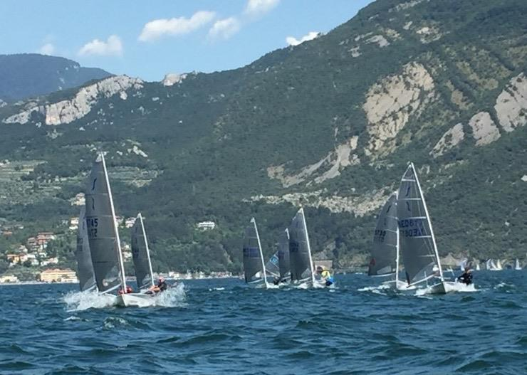 Glorious Italian weather (same in the UK though!) on day 1 of the Magic Marine Solo Nation's Cup at Lake Garda - photo © Will Loy