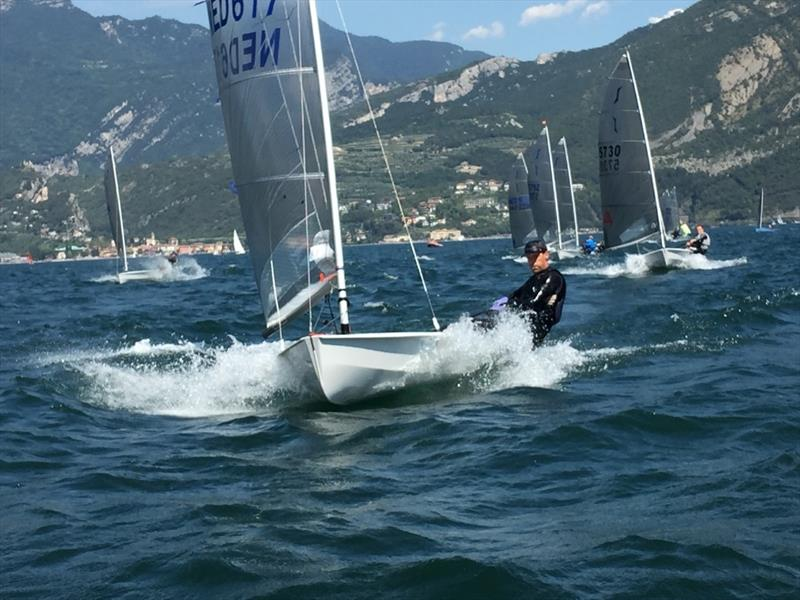 Tough man Peerke Kortekaas enjoying the conditions on day 1 of the Magic Marine Solo Nation's Cup at Lake Garda - photo © Will Loy
