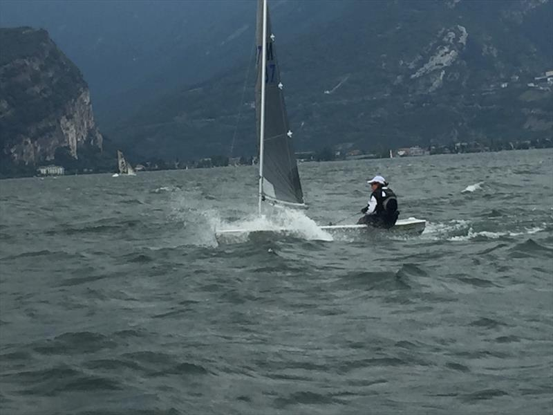 Claar van der Does is having a great regatta at the Magic Marine Solo Nation's Cup at Lake Garda - photo © Will Loy