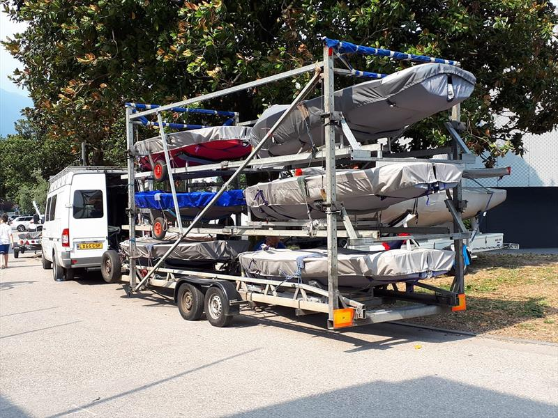Packed up and ready to go after the Magic Marine Solo Nation's Cup at Lake Garda - photo © Will Loy