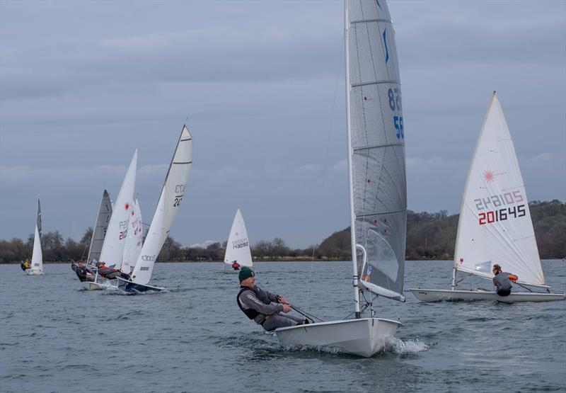 Martin Honor finishes 2nd in the Notts County Cooler 2019 photo copyright David Eberlin taken at Notts County Sailing Club and featuring the Solo class