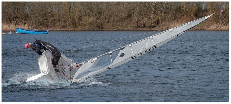 Amy King feeling the force during the Girton Sailing Club Spring Series Handicap - photo © Steve Johnson