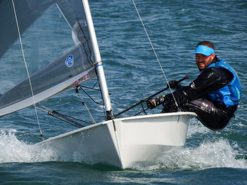 Event leader Tom Gillard on day 1 of the Nigel Pusinelli Trophy at the WPNSA photo copyright Will Loy taken at Weymouth & Portland Sailing Academy and featuring the Solo class