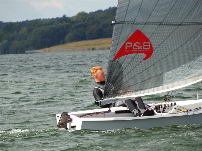 Oli Davenport in third overal on day 1 of the Harken Solo Inlands at Rutland - photo © Will Loy