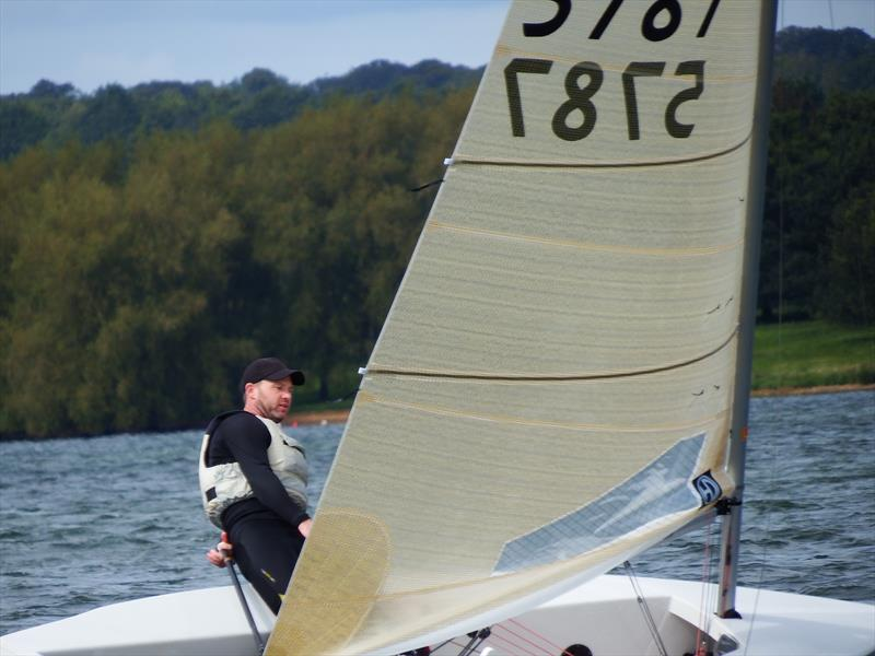 Andy Davis in second overall on day 1 of the Harken Solo Inlands at Rutland - photo © Will Loy