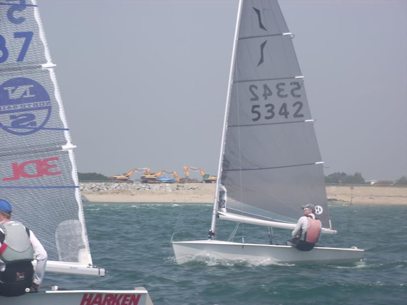 Day 1 of the Solo National Championships at Hayling photo copyright Will Loy taken at Hayling Island Sailing Club and featuring the Solo class