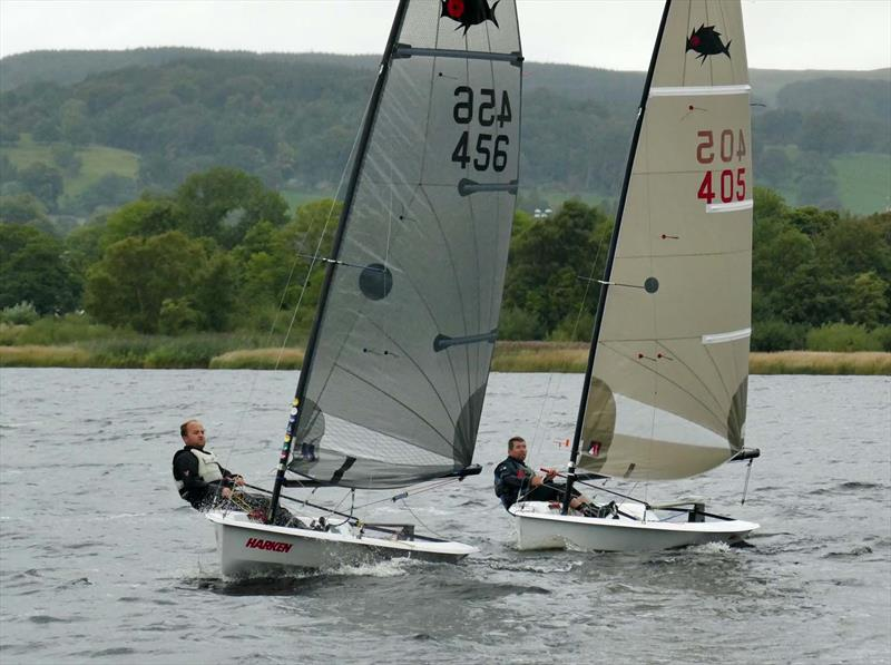 Solution Inlands at Bala photo copyright John Hunter taken at Bala Sailing Club and featuring the Solution class