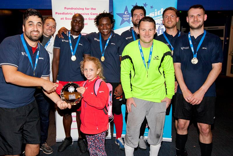 The Yacht Market win the plate at the MAA 5-a-side football tournament at the Southampton Boat Show 2016 photo copyright MAA taken at  and featuring the  class