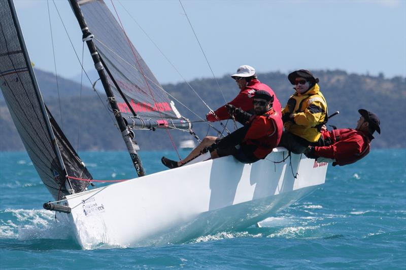 RE-Heat on fire today - Airlie Beach Race Week 2019 photo copyright Shirley Wodson taken at Whitsunday Sailing Club and featuring the Sportsboats class