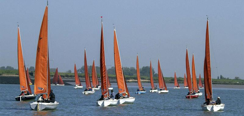 Aquabat leads the fleet to the north shore during the Squib Gold Cup at Burnham - photo © Roger Mant