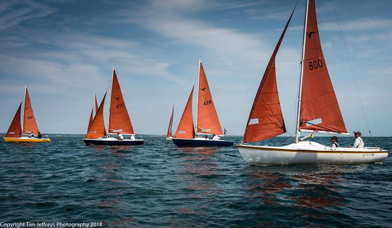 Julia and Graham Bailey in windward position to capture the Squib race on day 2 of Cowes Classics Week - photo © Tim Jeffreys Photography