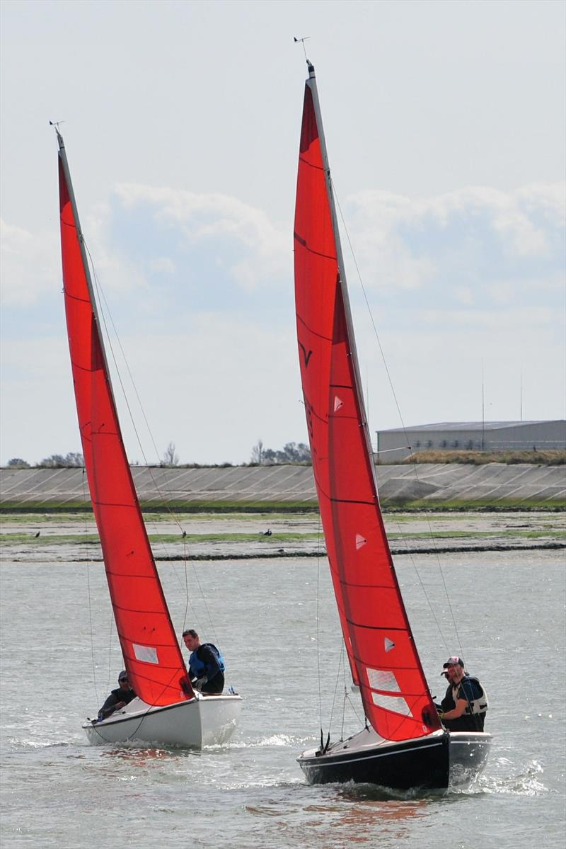 Electra and By the Lee during the Jimmy Starling Regatta at Burnham Sailing Club  photo copyright Alan Hanna taken at Burnham Sailing Club and featuring the Squib class