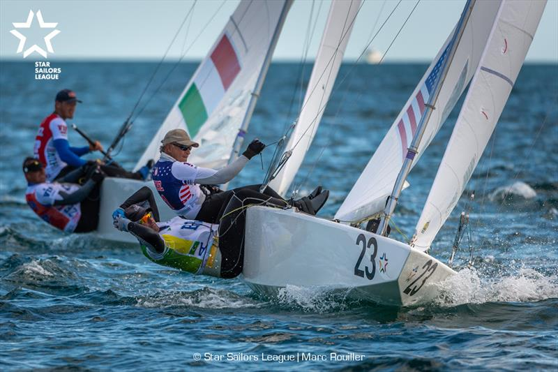 Bow: 23 USA 8509 / Skipper: Augie Diaz USA / Crew: Bruno Prada BRA - Star Sailors League Finals 2018 - photo © Marc Rouiller