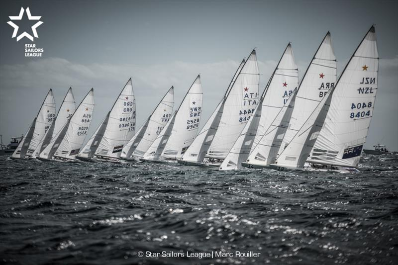 Star Sailors League Finals 2018 - Day 3 start photo copyright Marc Rouiller / SSL taken at Nassau Yacht Club and featuring the Star class