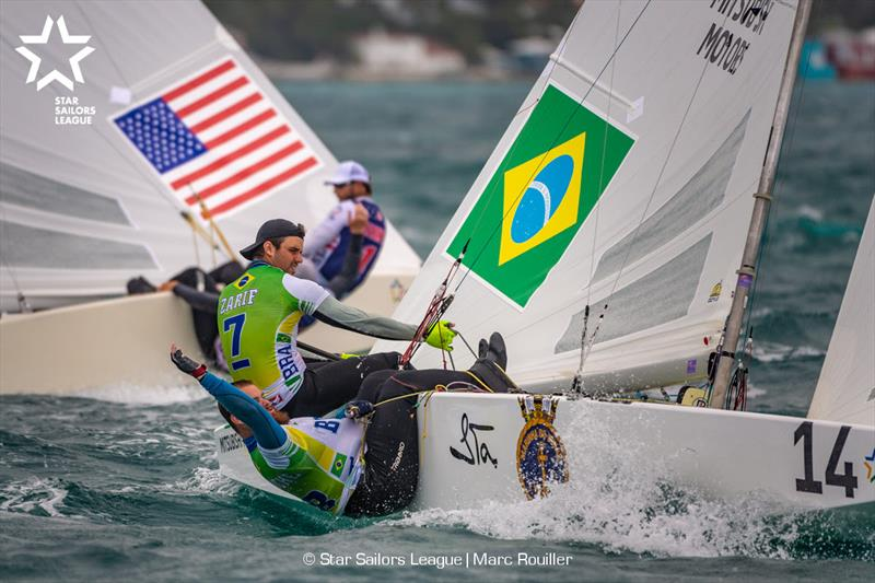Bow: 14 BRA 8210 / Skipper: Jorge Zarif BRA / Crew: Pedro Trouche BRA, Bow: 20 USA 8481 / Skipper: Mark Mendelblatt USA / Crew: Brian Fatih USA - 2018 Star Sailors League Finals - photo © Marc Rouiller