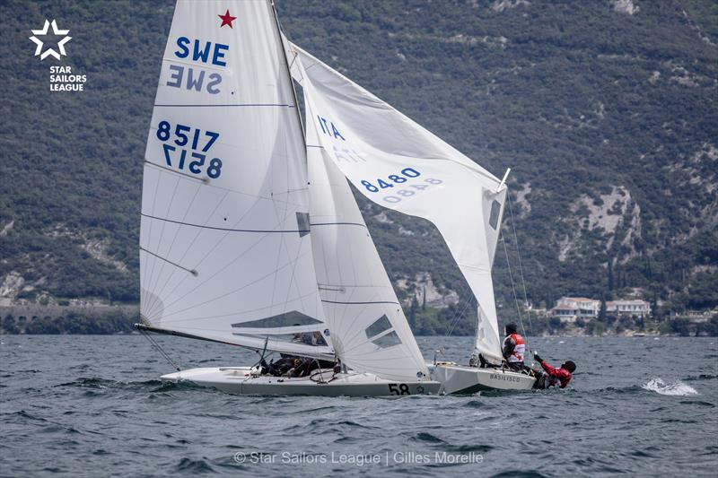 Day 1 of the Star European Championships and Star Sailors League Breeze Grand Slam at Garda - photo © Marc Rouiller / SSL
