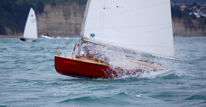 Murrays Bay Winter Champs, 2010. Erica Dawson sailing #1199, powered up in the fresh conditions. The October regatta remains a season by season 'litmus test' of class health. - photo © Brian Peet
